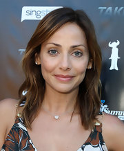 Natalie Imbruglia wore her hair in barely-there waves at the Take 40 party.
