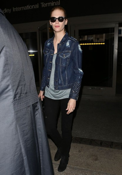 More Pics of January Jones Denim Jacket (6 of 15) - January Jones Lookbook - StyleBistro