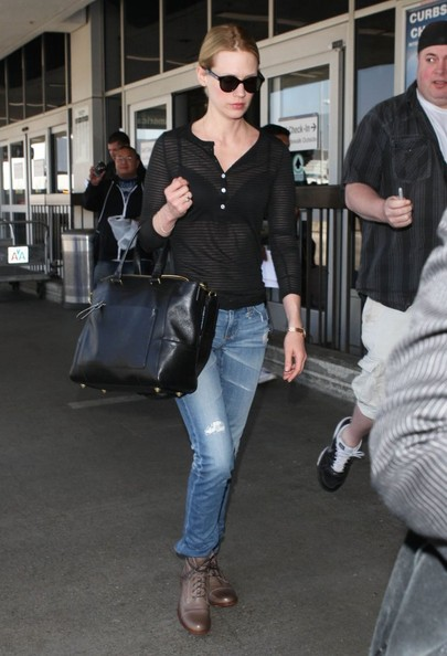 January Jones Ripped Jeans []