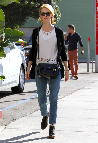 January Jones Patent Leather Shoulder Bag