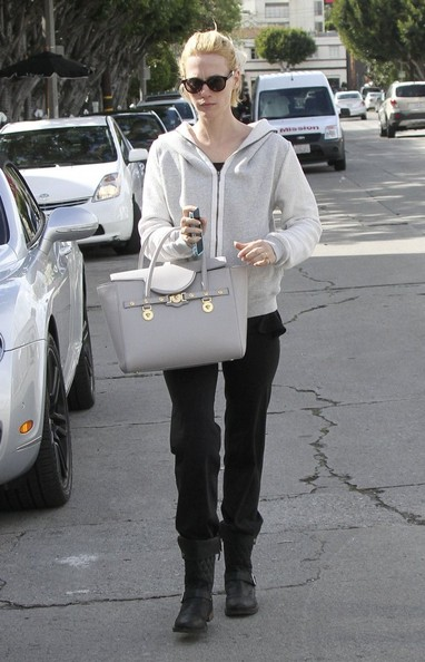 January Jones Leather Tote []