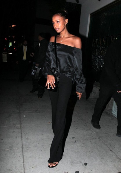 Jasmine Tookes Off-the-Shoulder Top