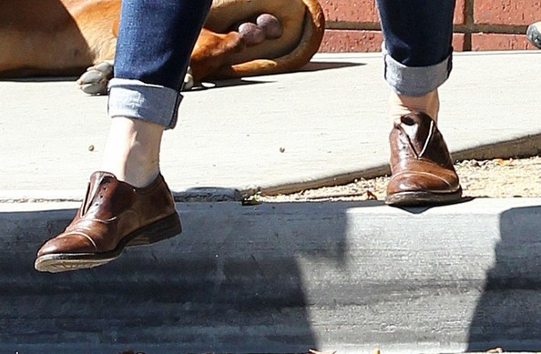 Jennifer Garner Leather Slip On Shoes