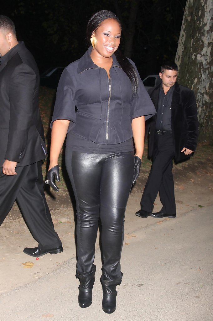 Jennifer Hudson Leather Gloves Jennifer Hudson