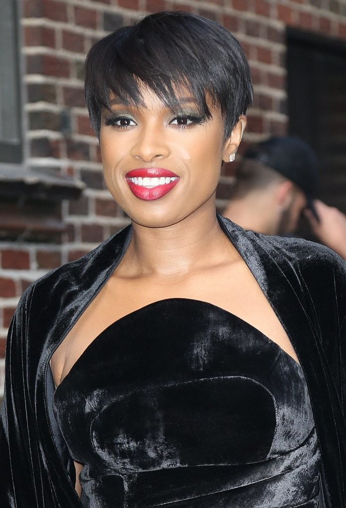 Jennifer Hudson Short Cut With Bangs Short Cut With Bangs Lookbook StyleB