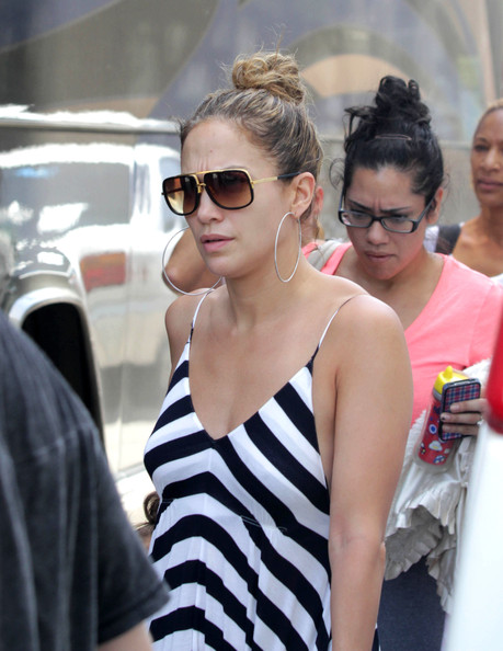 Jennifer Lopez Oversized Sunglasses