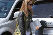 Actress Jessica Alba arriving at Jessica Simpson's baby shower in Los Angeles, California on March 18, 2012.