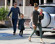 Jessica Alba shimmered with every step in these stunning metallic loafers.