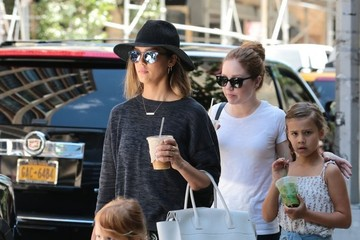 Jessica Alba Honor Warren Jessica Alba Steps Out in New York