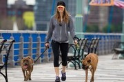 'Nailed' actress Jessica Biel out walking her dogs in New York City, New York on June 8, 2013.