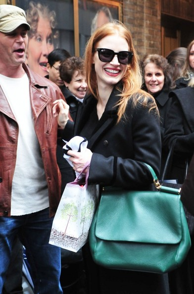 More Pics of Jessica Chastain Ankle boots (1 of 9) - Jessica Chastain Lookbook - StyleBistro