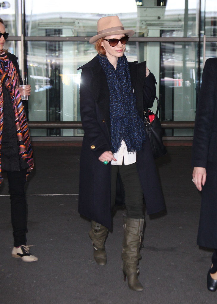 Jessica Chastain Knee High Boots Jessica Chastain Looks