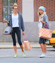Ashley Hart prefers comfort, as she wore a pair of chucks while out with her sister Jessica.