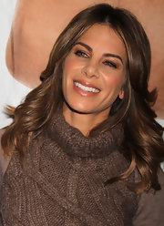 Jillian Michaels wore her hair in feathered waves during the Consumer Electronics Show.