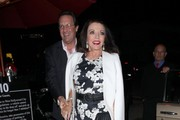Joan Collins Print Dress