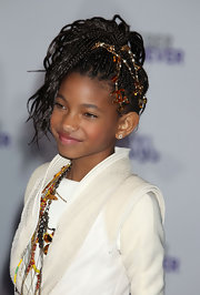 Willow Smith added a classic twist to her braided ponytail with a Chanel chain.