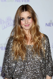 Whitney Port is all about the center part. She showed off her signature hairstyle at the premiere of 'Justin Beiber: Never Say Never'.