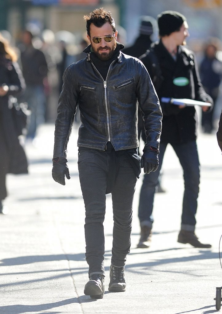 More Pics Of Justin Theroux Motorcycle Jacket 5 Of 17