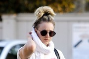 Kaley Cuoco Round Sunglasses