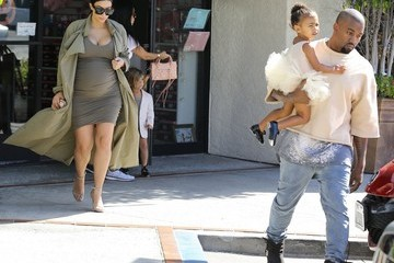 Kanye West Kim Kardashian Kim and Kourtney Kardashian Take Their Daughters to Ballet Class