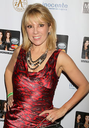 Ramona Singer wore a black crystal collar necklace to the Kardashian MasterCard Launch.