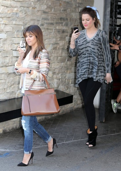 More Pics of Kourtney Kardashian Ripped Jeans (3 of 17) - Ripped Jeans Lookbook - StyleBistro