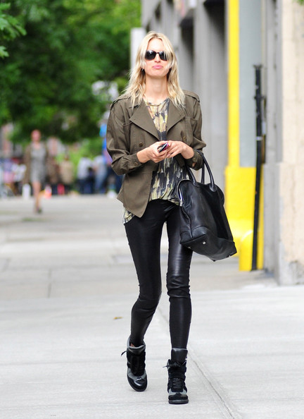 Karolina Kurkova Leather Sneakers
