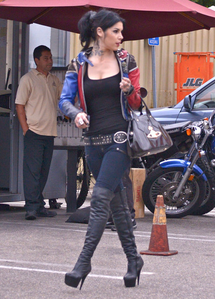 More Pics of Kat Von D Knee High Boots (1 of 21) - Kat Von D Lookbook - StyleBistro