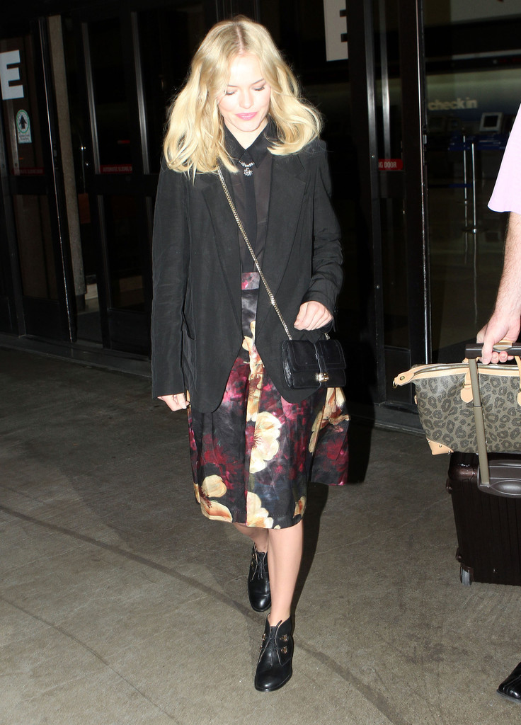 Actress Kate Bosworth arriving on a flight at LAX airport in Los Angeles, CA.