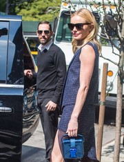 Kate Bosworth was spotted in New York carrying a futuristic-chic safety-buckle patent leather purse by Christopher Kane.