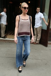 Kate Bosworth chose mega-wide-leg jeans by Citizens of Humanity to complete her look.