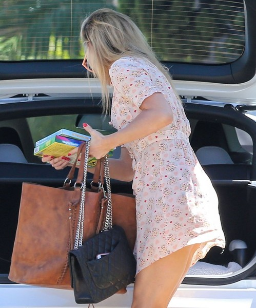 Kate Hudson Quilted Leather Bag