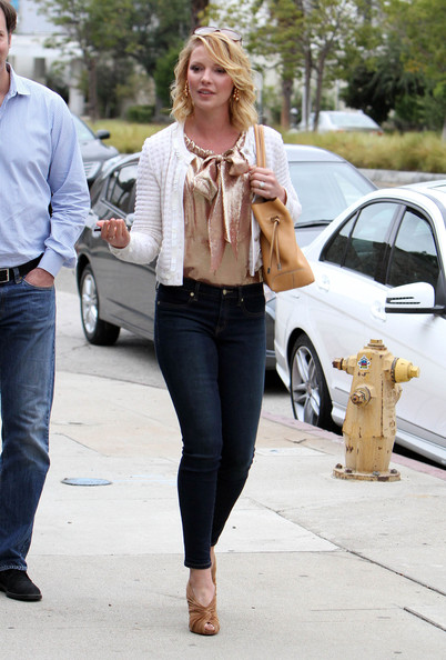 More Pics of Katherine Heigl Peep Toe Pumps (1 of 91) - Katherine Heigl Lookbook - StyleBistro