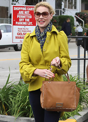Katherine Heigl wore this patterned scarf while out to lunch with her mom in LA.