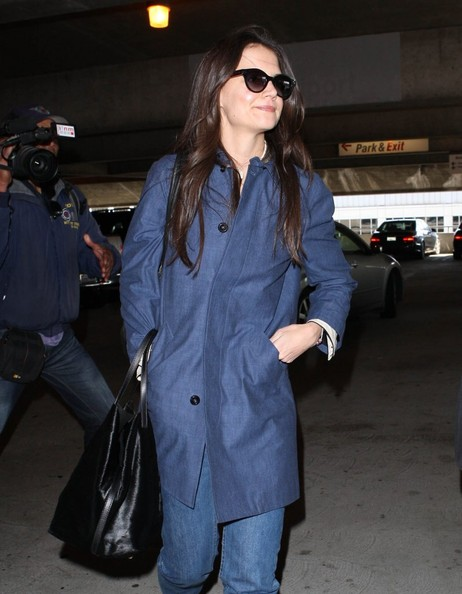 More Pics of Katie Holmes Zip-up Jacket (1 of 25) - Zip-up Jacket Lookbook - StyleBistro