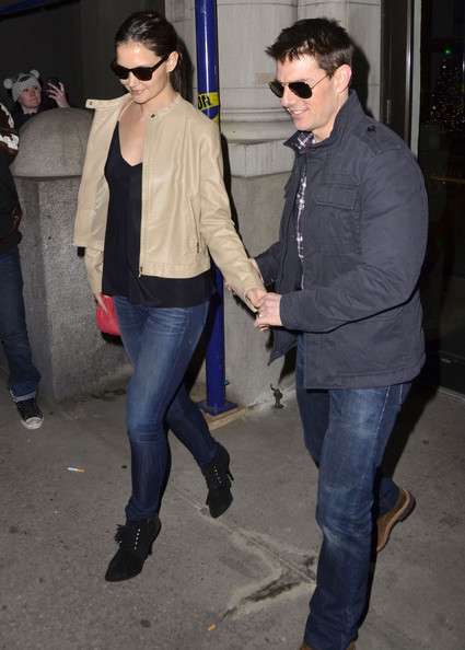 Katie Holmes Lace Up Boots