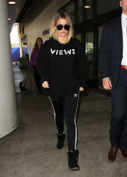 Khloe Kardashian Leather Sneakers