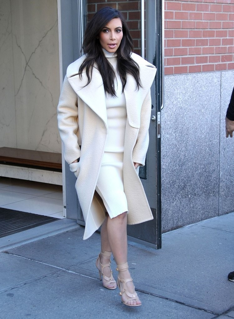 Couple Kanye West and Kim Kardashian out for lunch at the ABC Kitchen in New York City, New York on February 22, 2014.