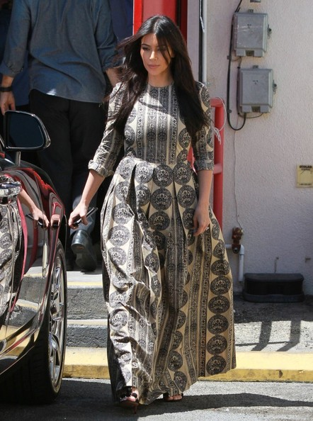 Kim Kardashian Print Dress