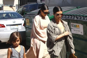 Kim Kardashian Mason Disick The Kardashian Clan Heads Out for Lunch at The Ivy