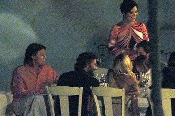 Kim Kardashian Mason Disick The Kardashian Family Has Dinner During Greek Vacation
