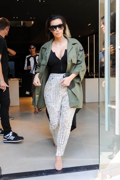 Kim Kardashian Military Jacket