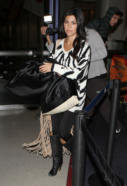 More Pics of Kourtney Kardashian Knee High Boots (1 of 15) - Kourtney Kardashian Lookbook - StyleBistro