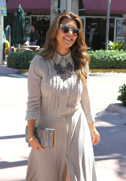 Kourtney Kardashian Printed Clutch