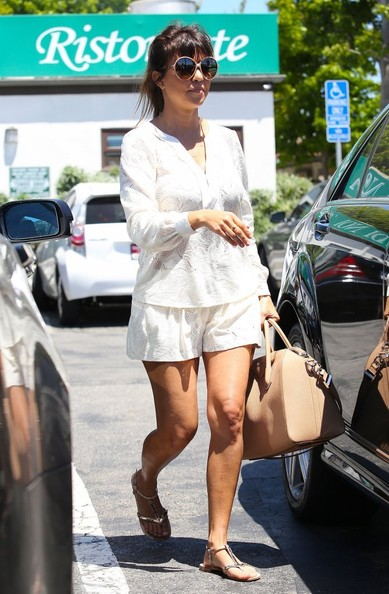 Kourtney Kardashian Short Shorts