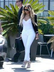 Larsa Pippen was white-hot in a cleavage-flaunting bodysuit and skinny jeans while out and about in Culver City.