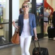 Kristin Cavallari's Chambray Blazer and White Jeans
