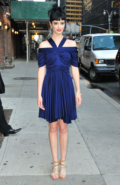 Krysten Ritter Off-the-Shoulder Dress