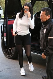 Kylie Jenner Running Shoes - Kylie Jenner Fashion - StyleBistro