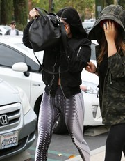 For her arm candy, Kylie Jenner chose the celeb-favorite Givenchy Nightingale bag, in black.